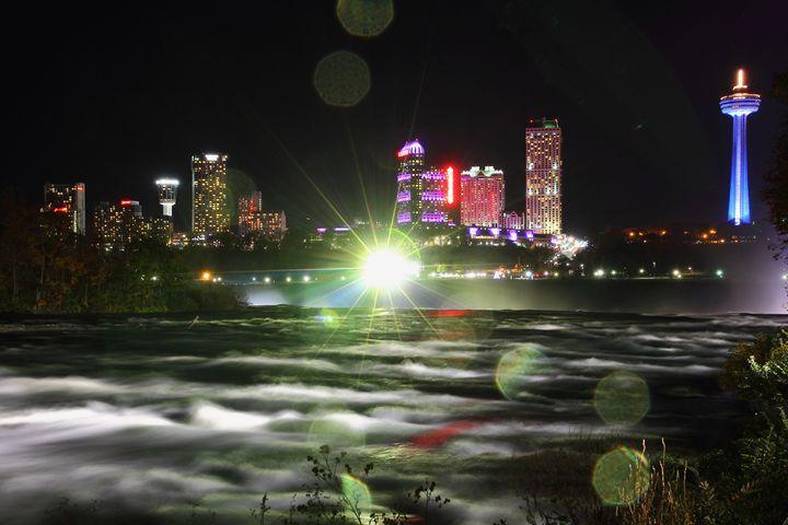 Niagara Falls Canada Night Skyline - Donny R. Coutu