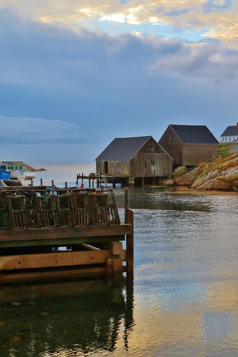 Golden Eve at Peggy's Cove - Donny R. Coutu