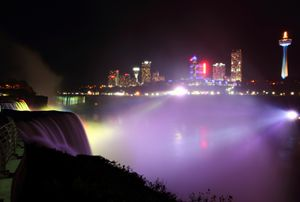 Niagara's Glowing Night Mist - Donny R. Coutu
