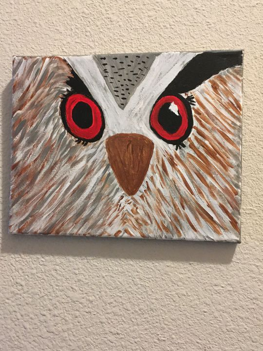 Owl eyes on you - Terri's Fun Art and Home Decor