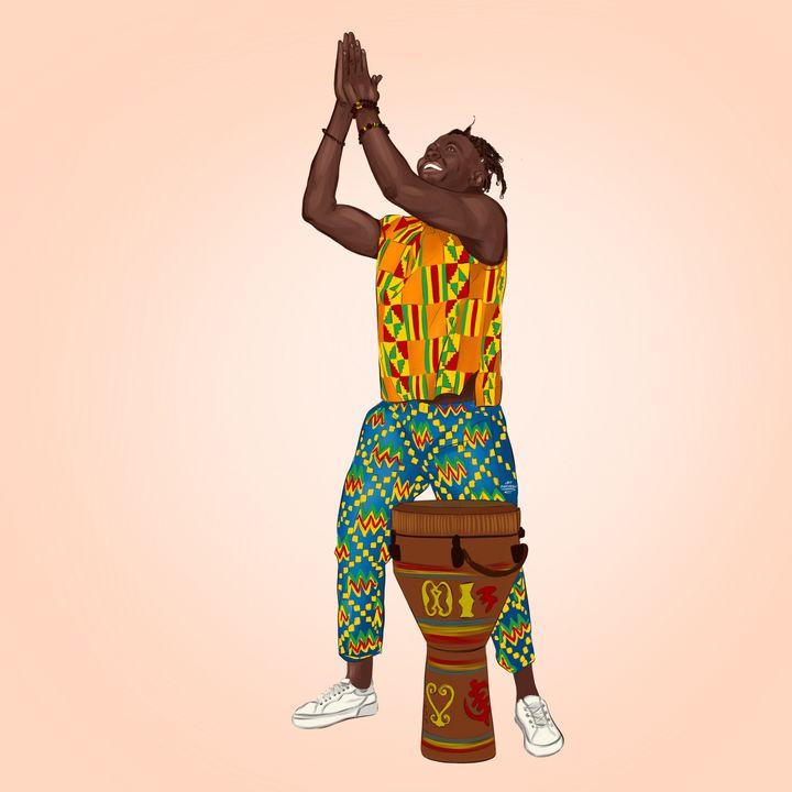 African drummer - Art.kuzeneva
