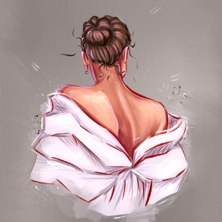 """Portrait of """" the girl from the back - Art.kuzeneva"""