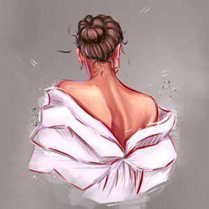 """Portrait of """" the girl from the back"""