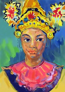 Portrait of a Balinese Lady