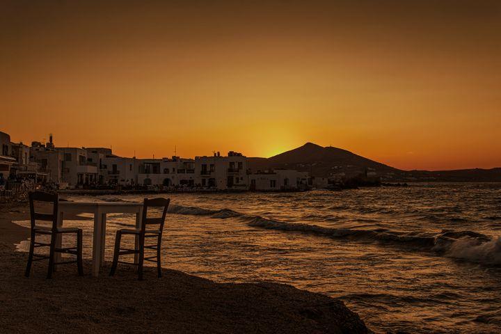 Beach in Naousa Paros - Sotiriadis Giannis