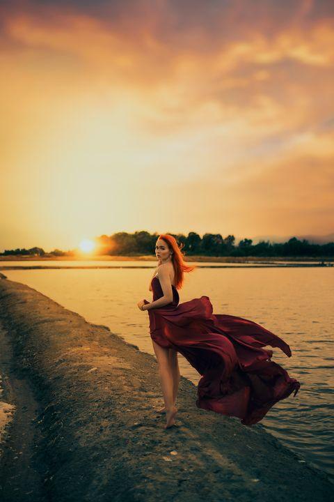 Red dress - Sotiriadis Giannis