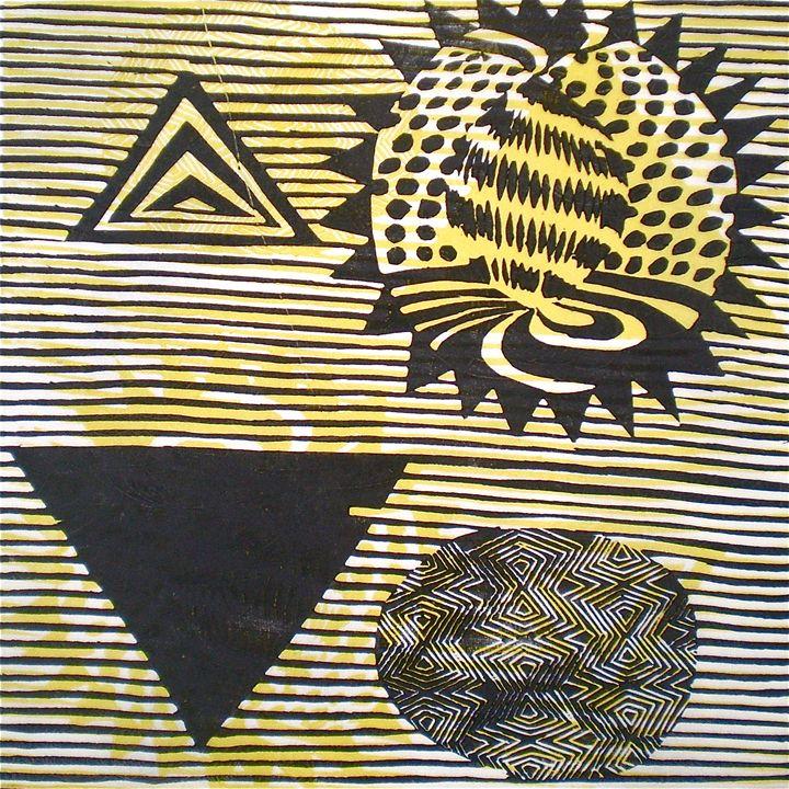 4D Start - Woodcutprint / mokuhanga