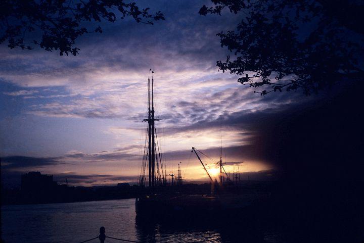 British Columbia Harbor Sunset - Mercurial Day
