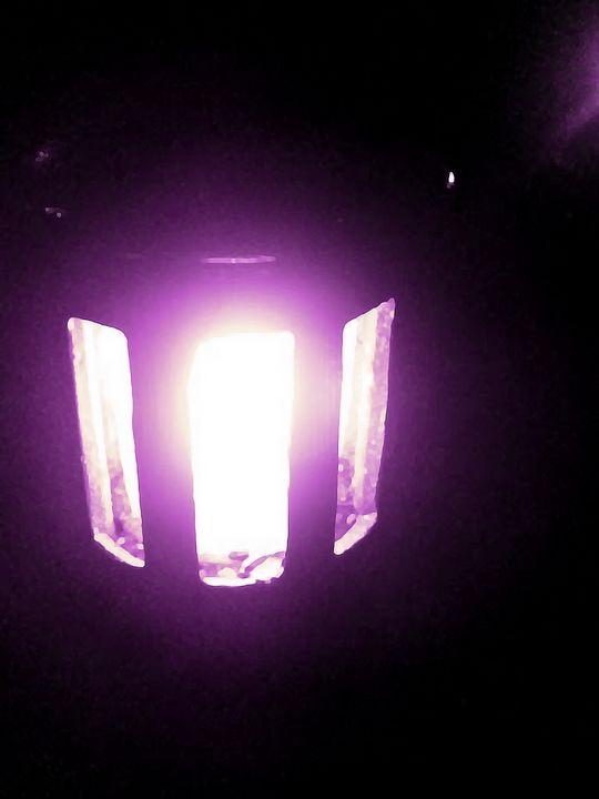 Purple Lantern at Night - Mercurial Day