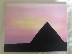 Pink Sunset Pyramid