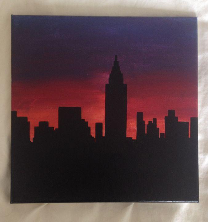 City Sunset - Alien Spirit Art