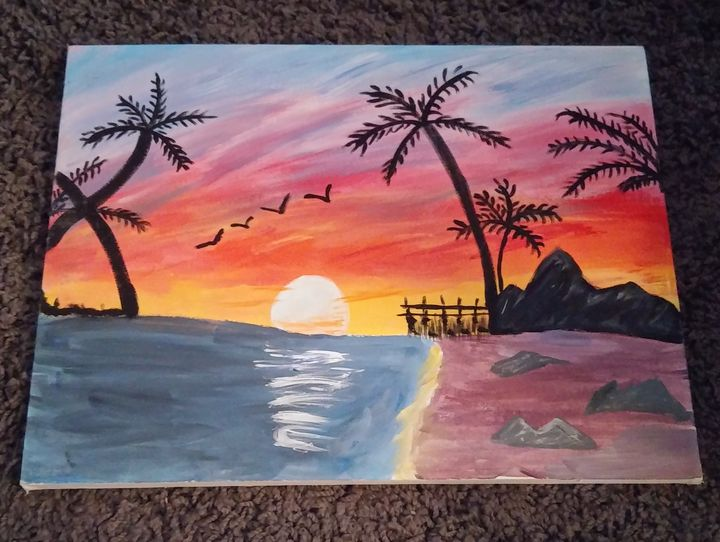 Beach Palm Trees - My Paintings for sale