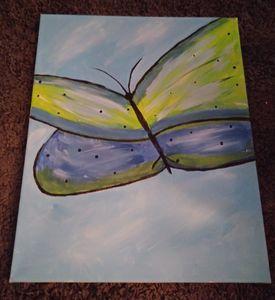 Blue Butterfly 8 x 10