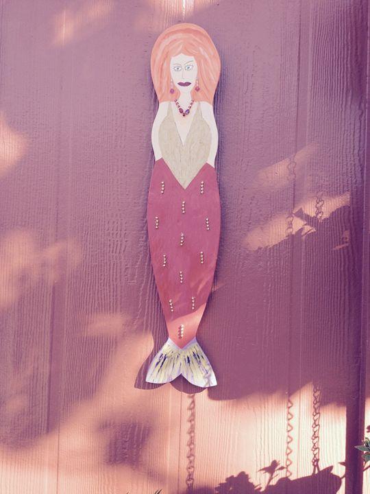 Wooden wall art - Missy Mermaids by Rodney