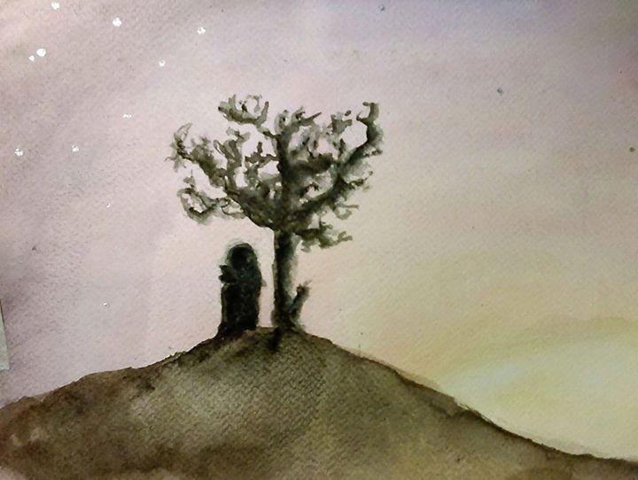 There Is Beauty In Darkness - Jen Hallbrown Art