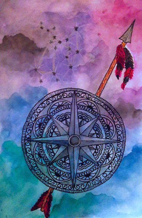 Sagitarrius - Jen Hallbrown Art