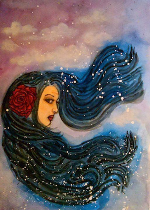 Mother Night - Jen Hallbrown Art