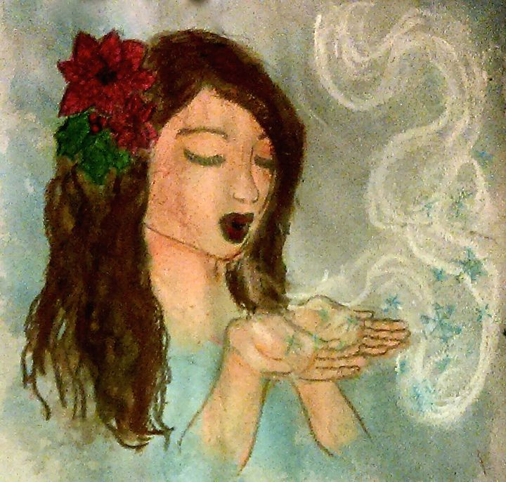 Yule Goddess - Jen Hallbrown Art