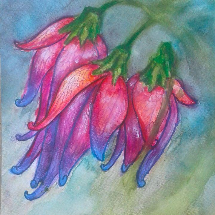 Bellflowers - Jen Hallbrown Art