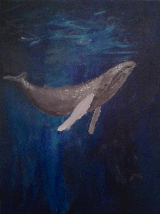 Deep Blue - Jen Hallbrown Art