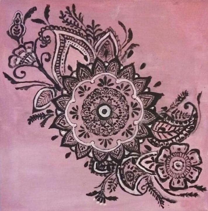 Pink Mandala - Jen Hallbrown Art