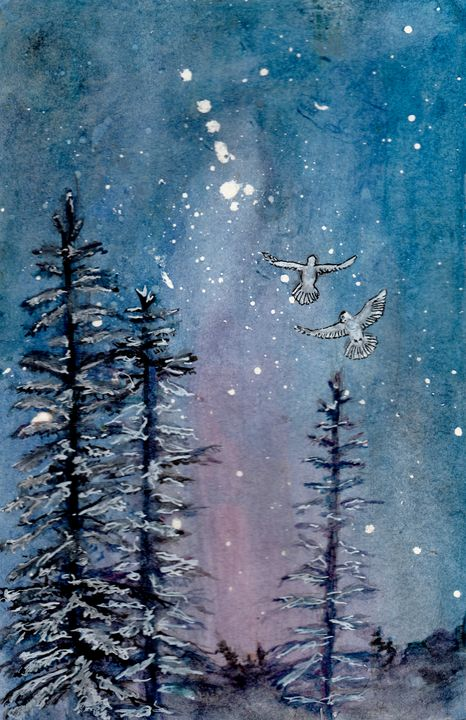 Winter's Night - Jen Hallbrown Art