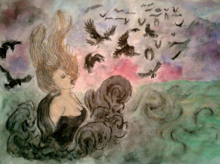 The Morrigan #2 - Jen Hallbrown Art