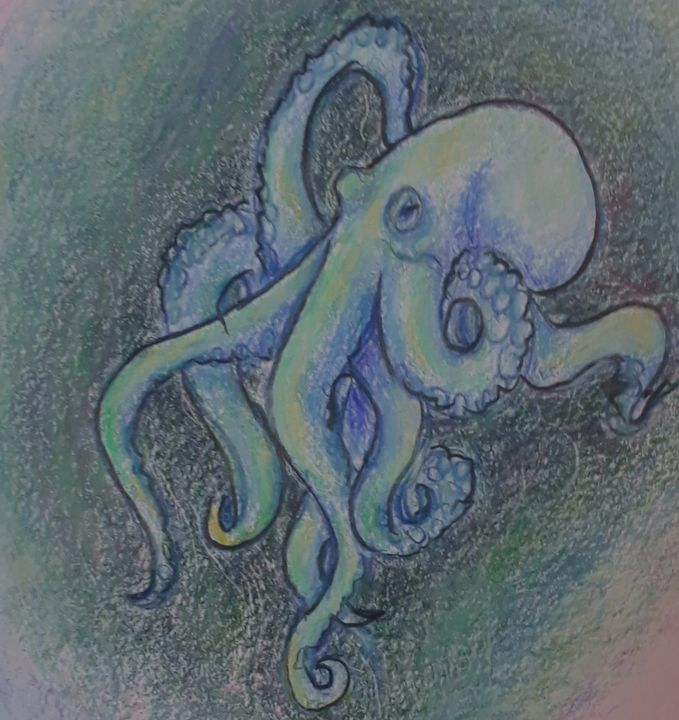 Octopus #3 - Jen Hallbrown Art