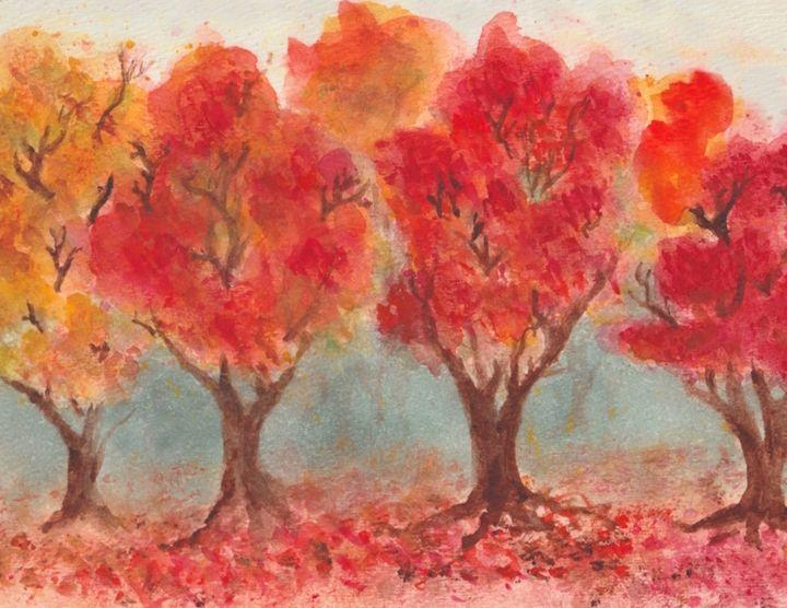 Autumn Trees - Jen Hallbrown Art