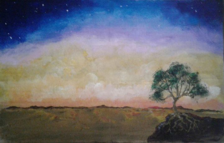 Sunset at the End of the World - Jen Hallbrown Art