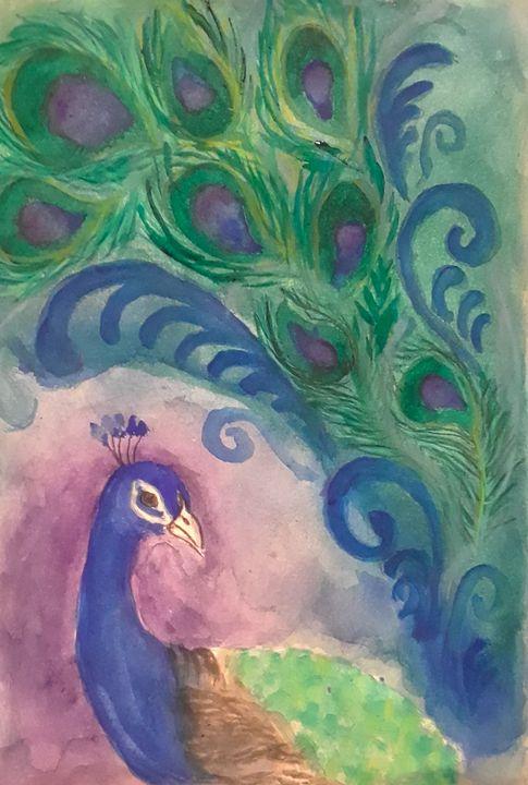 Peacock #3 - Jen Hallbrown Art