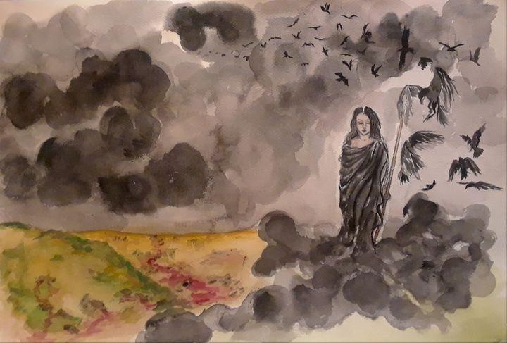 Morrigan - Jen Hallbrown Art