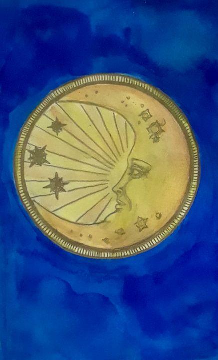 Old Fashioned Moon - Jen Hallbrown Art