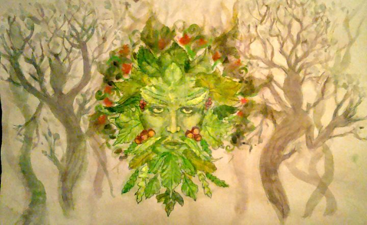 Green Man - Jen Hallbrown Art