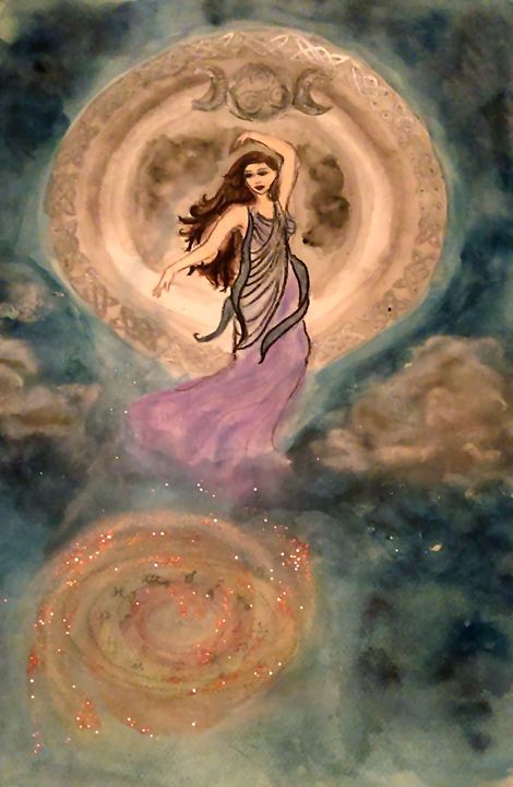 Moon Goddess - Jen Hallbrown Art