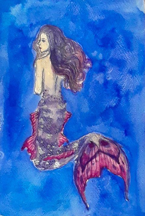 Mermaid #3 - Jen Hallbrown Art