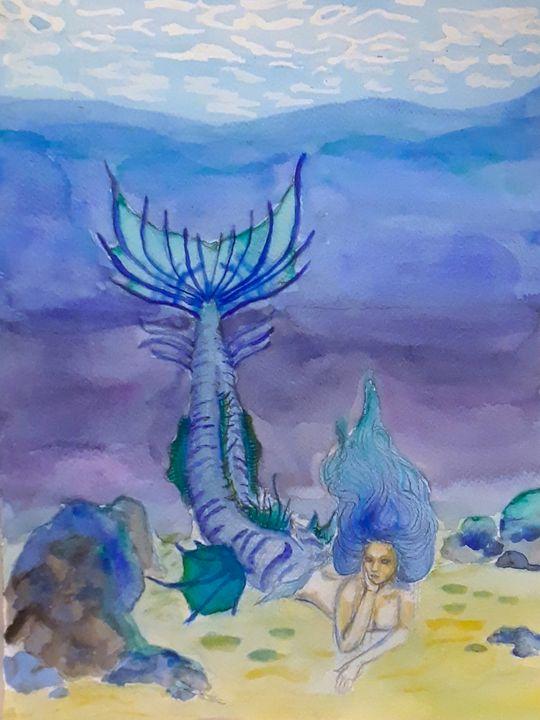 Mermaid #4 - Jen Hallbrown Art