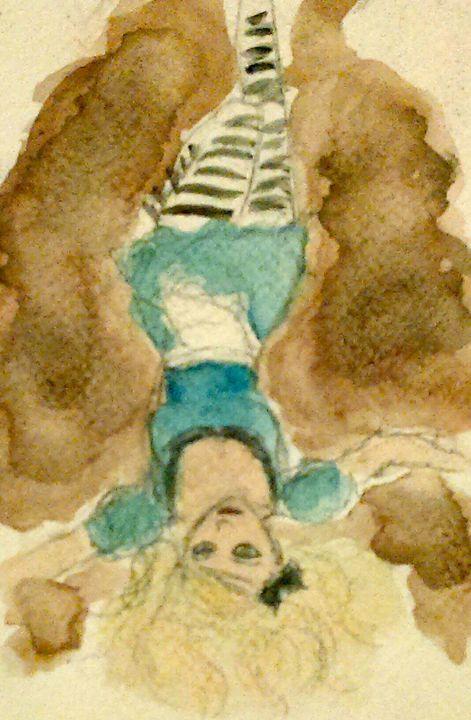 Down FallsAlice - Jen Hallbrown Art