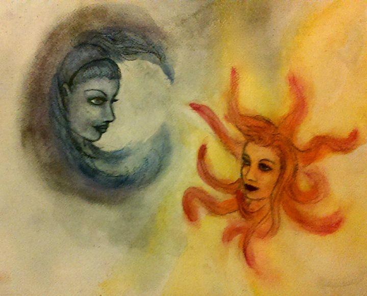 Celestial Sisters - Jen Hallbrown Art