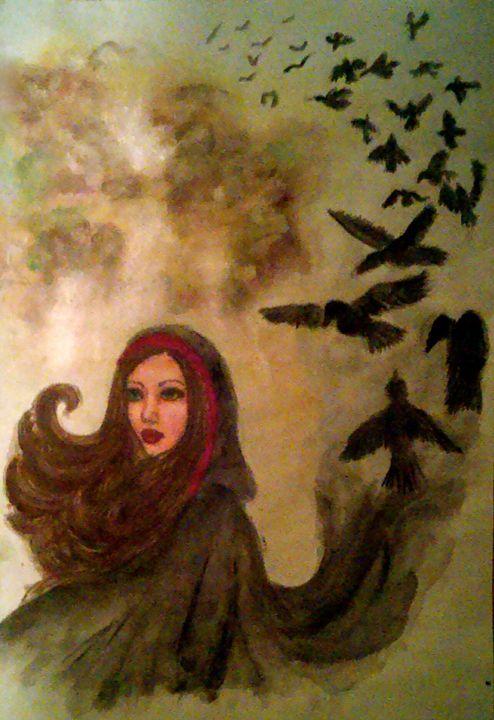 The Morrighan - Jen Hallbrown Art