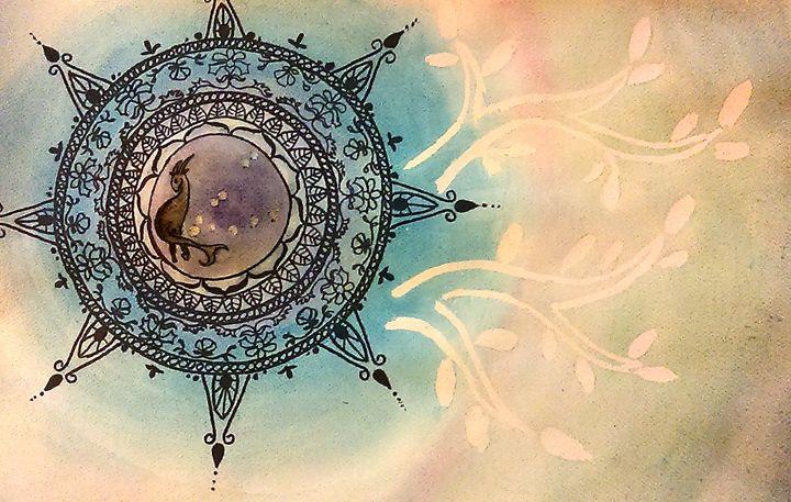December Capricorn - Jen Hallbrown Art
