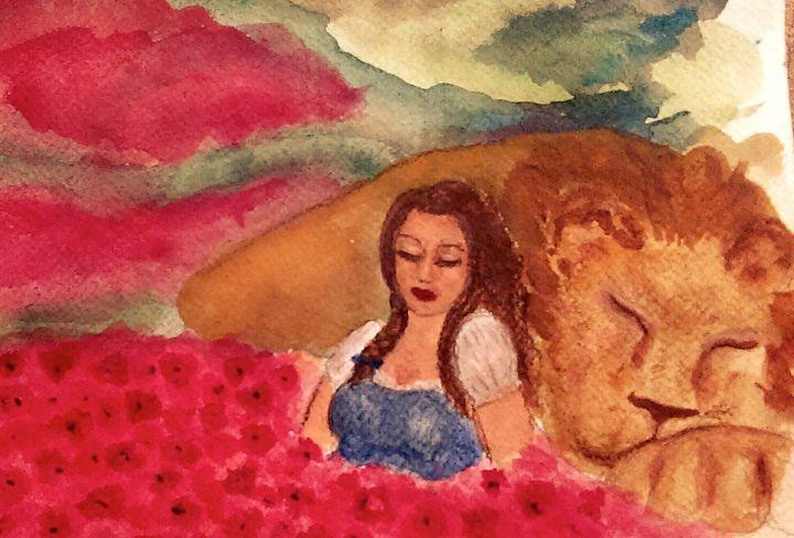 Poppies and Sleep - Jen Hallbrown Art