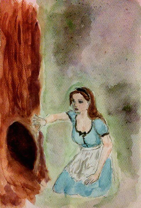 Looking Down The Rabbit Hole - Jen Hallbrown Art