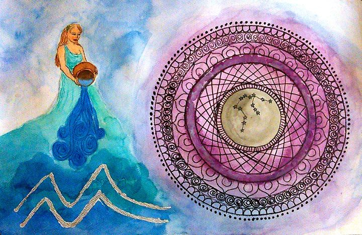 Aquarius - Jen Hallbrown Art