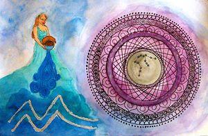 Aquarius - Jen Hallbrown Art