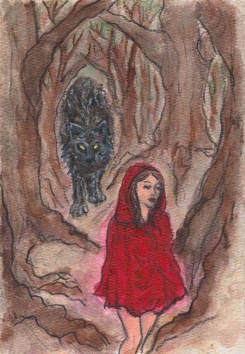 A Walk in the Woods - Jen Hallbrown Art