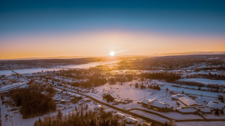 eagles view of the river - Mason Paul Photography