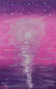 Ocean moonscape - Hallie's art
