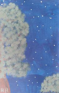 Night trees - Hallie's art