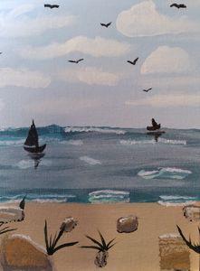 Ocean Beach with boats